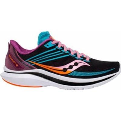 サッカニー レディース スニーカー シューズ Saucony Women's Kinvara 12 Running Shoes Black