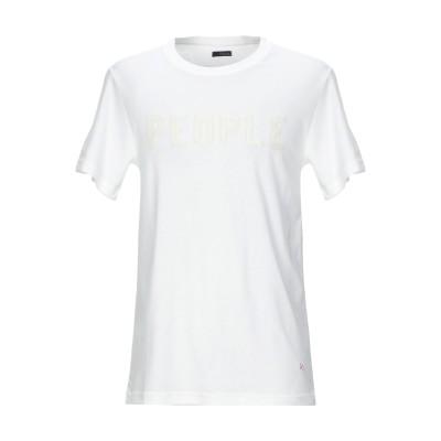 プラスピープル (+) PEOPLE T シャツ ホワイト S コットン 100% T シャツ