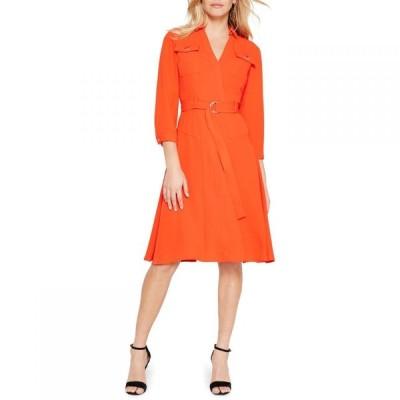 ダンセル Damsel in a Dress レディース ワンピース ワンピース・ドレス Ennis Sleeved Relaxed Trench Dress Orange