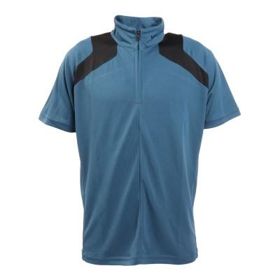 ザ・ワープ・バイ・エネーレシャツワープフレックス メッシュ半袖ジップシャツ WB5KTG14 BLUブルー