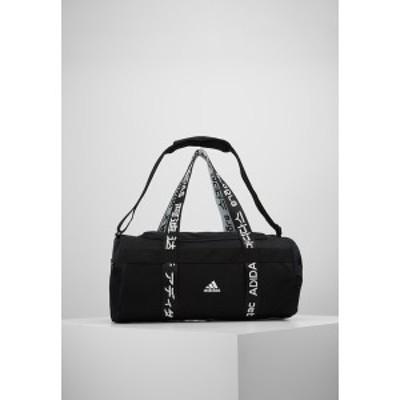 アディダス メンズ ショルダーバッグ バッグ ESSENTIALS 3 STRIPES SPORT DUFFEL BAG UNISEX - Sports bag - black/white black/white