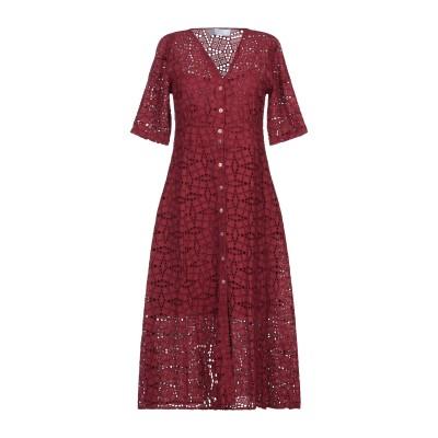 カオス KAOS 7分丈ワンピース・ドレス ボルドー 40 コットン 100% 7分丈ワンピース・ドレス