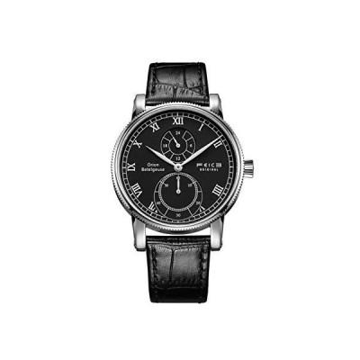 FEICE クォーツ 腕時計 メンズ 多機能 本革 アナログ 防水時計 おしゃれ シンプル 男性用ファッションウォッチ ?