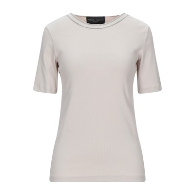 ファビアナフィリッピ FABIANA FILIPPI T シャツ ベージュ 44 コットン 94% / ポリウレタン 6% / エコブラス T シャツ