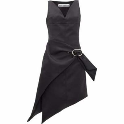 パコラバンヌ Paco Rabanne レディース パーティードレス ワンピース・ドレス Asymmetric buckled satin dress Black