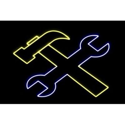 【ネオン】工具【こうぐ】【道具】【スパナ】【ハンマー】【どうぐ】【工事】【アイコン】【イラスト】【ネオンライト】【電飾】【LED】