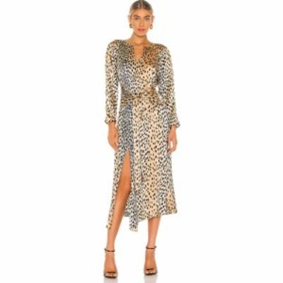 レベッカ テイラー Rebecca Taylor レディース ワンピース ワンピース・ドレス Long Sleeve Leopard Tie Dress Golden Combo
