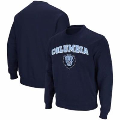 Colosseum コロセウム スポーツ用品  Colosseum Columbia University Lions Navy Arch & Logo Crew Neck Sweatshirt