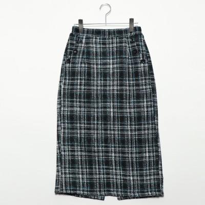 スタイルブロック STYLEBLOCK オーバーチェックタイトスカート (ターコイズ)