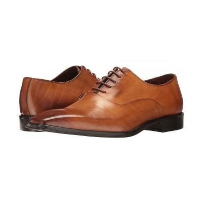 Massimo Matteo マッシオマッテオ メンズ 男性用 シューズ 靴 オックスフォード 紳士靴 通勤靴 5-Eye Bal 17 - Burnished Tan