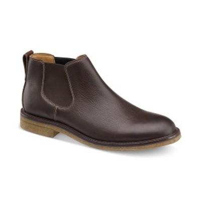 ジョンストンアンドマーフィー メンズ ブーツ&レインブーツ シューズ Men's Copeland Chelsea Boots Dark Brown