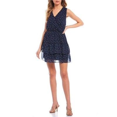 I.N.サンフランシスコ レディース ワンピース トップス Sleeveless Multi Color Dot Double Hem Dress