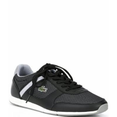 ラコステ メンズ スニーカー シューズ Men's Menerva Sport Lace-Up Sneakers Black/Grey