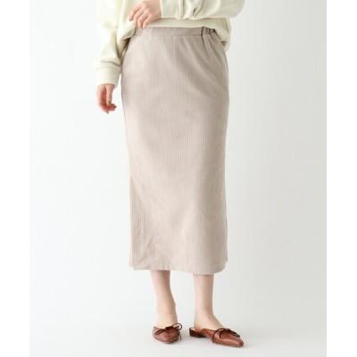 WORLD ONLINE STORE SELECT / 【ウォッシャブル】コーデュロイストレートスカート WOMEN スカート > スカート