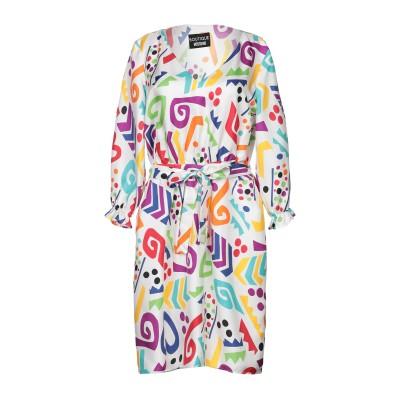 BOUTIQUE MOSCHINO ミニワンピース&ドレス ホワイト 36 シルク 100% ミニワンピース&ドレス