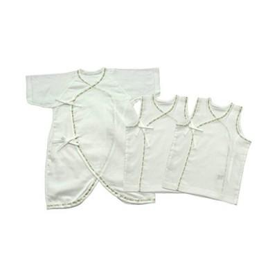 ベビーストーリー クレープ 新生児肌着3点セット 50cm - 60cm T70000-3 日本製
