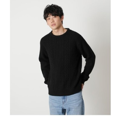 CABLE KNITTING PULLOVER