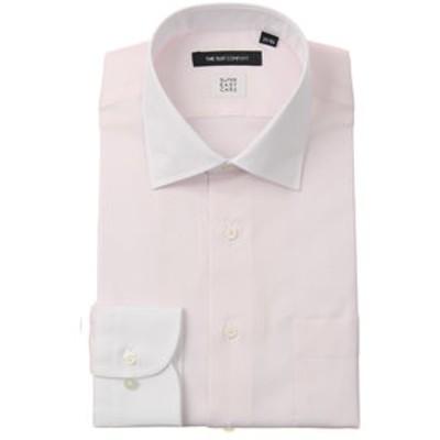 【SUPER EASY CARE】クレリック&ワイドカラードレスシャツ 織柄 〔EC・BASIC〕