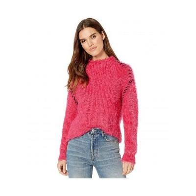 1.STATE ワンステート レディース 女性用 ファッション セーター Whipstitch Eyelash Turtleneck - Rapture Pink