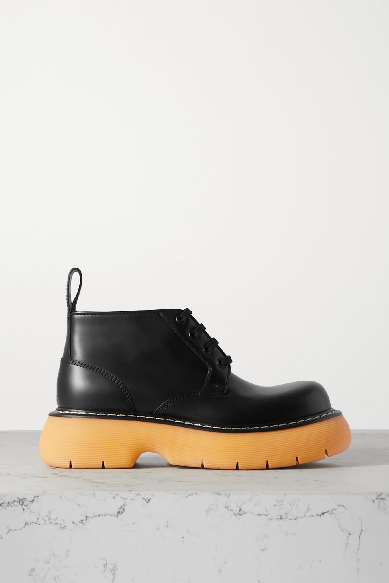 Bottega Veneta - The Bounce Leather Ankle Boots - Black - IT38