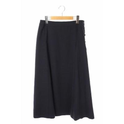 【中古】ジェイプレス J.PRESS 20AW マルソースパンボイル スカート フレア ロング 11 紺 /KN ■OS レディース