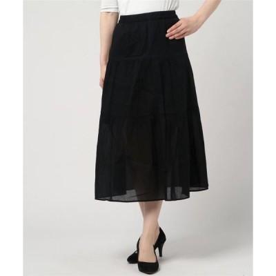スカート 【FORT POINT】インド綿ティアードスカート