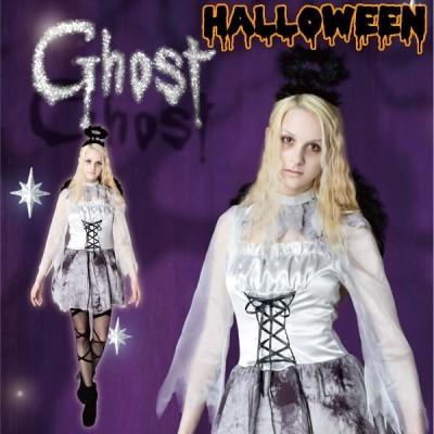 ハロウィン 天使 コスプレ 衣装 女子 ゴースト ゾンビ ダーク エンジェル コスチューム 仮装 ゴーストエンジェル レディース 女性