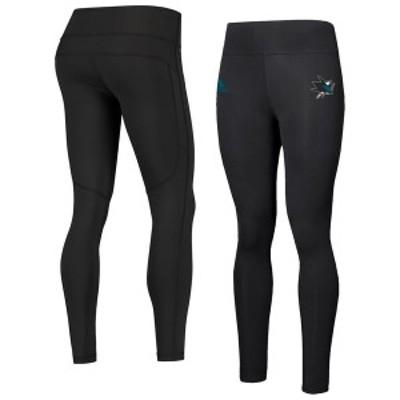 アディダス レディース カジュアルパンツ ボトムス San Jose Sharks adidas Women's Game Mode 7/8 Leggings Black