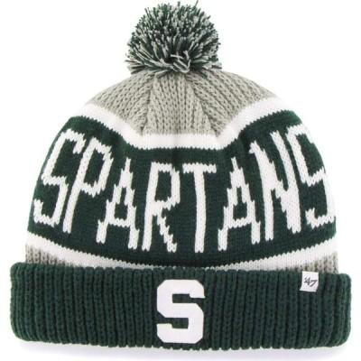 フォーティセブン 47 メンズ ニット 帽子 Michigan State Spartans Grey Calgary Cuffed Knit Hat