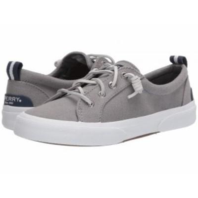 Sperry スペリー レディース 女性用 シューズ 靴 スニーカー 運動靴 Pier Wave LTT Canvas Grey 2【送料無料】