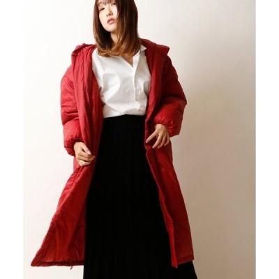 ダウン ダウンジャケット 【BouJeloud】ビックショールカラーフード付きロングコート womens