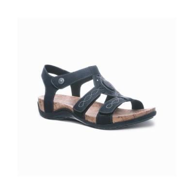 ベアパウ BEARPAW レディース サンダル・ミュール フラット シューズ・靴 Ridley Flat Sandals Black