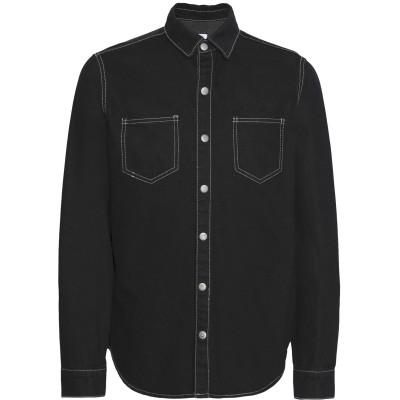 8 by YOOX デニムシャツ ブラック S コットン 75% / ポリエステル 25% デニムシャツ
