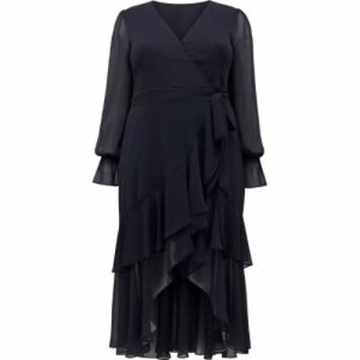 フォーエバーニュー Forever New レディース ワンピース ラップドレス ワンピース・ドレス Sara Ruffle Sleeved Curve Wrap Dress Navy