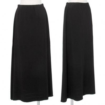 イッセイミヤケ エーポックISSEY MIYAKE A-POC 裾ラインストレッチAラインスカート 黒2 【レディース】