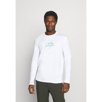 ピアワン カットソー メンズ トップス Long sleeved top - white