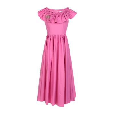 VIVETTA 7分丈ワンピース・ドレス フューシャ 40 コットン 97% / ポリウレタン 3% 7分丈ワンピース・ドレス