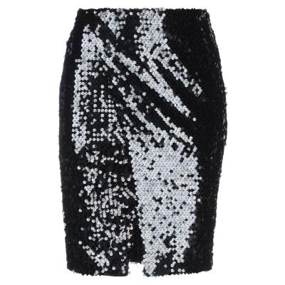 レリッシュ RELISH ひざ丈スカート ブラック M ナイロン 95% / ポリウレタン 5% ひざ丈スカート