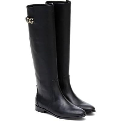 ドルチェ&ガッバーナ Dolce & Gabbana レディース ブーツ シューズ・靴 Leather Riding Boots Black