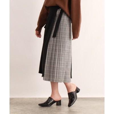 OZOC / オゾック [洗える]ラップ&プリーツスカート
