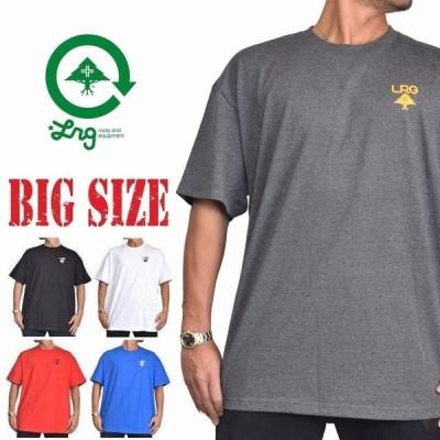 SALE 大きいサイズ メンズ LRG エルアールジー 半袖Tシャツ クルーネック プリント Logo Plus Tee XXL XXXL XXXXL [M便 1/1]