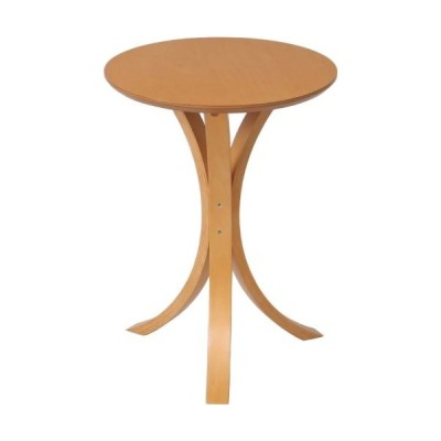 不二貿易 サイドテーブル 丸 幅40cm ナチュラル 天然木 79084