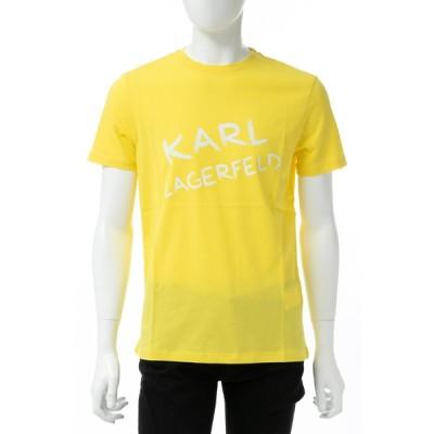カールラガーフェルド KARL LAGERFELD Tシャツ 半袖 丸首 クルーネック メンズ 755062 591220 イエロー 2019年春夏新作