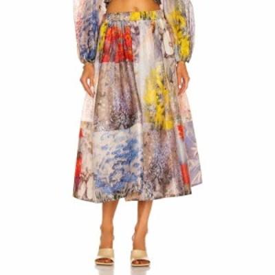 ジマーマン Zimmermann レディース ひざ丈スカート スカート Botanica Midi Skirt Book Print