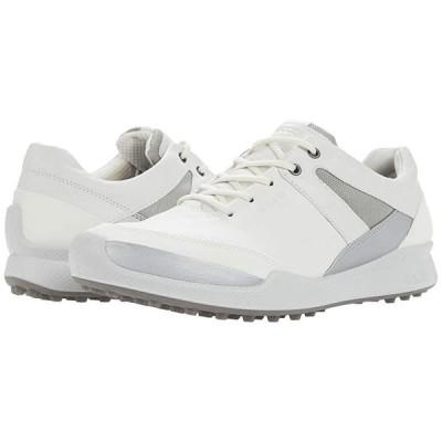 エコー Biom Hybrid I Hydromax レディース スニーカー White/Silver Metallic/White/Yak Leather/Synthetic