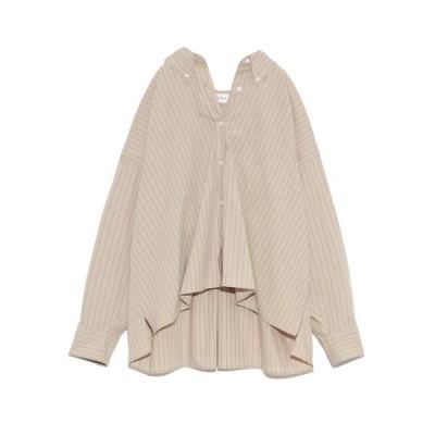 【ミラオーウェン】 ボタンダウン短丈ワイドシャツ レディース ベージュ 1 Mila Owen
