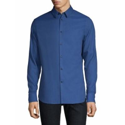 J. リンデベルク メンズ カジュアル ボタンダウンシャツ Classic Cotton Button-Down Shirt