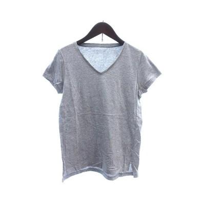【中古】トゥデイフル TODAYFUL カットソー Tシャツ Vネック 総柄 半袖 S グレー /AU レディース 【ベクトル 古着】