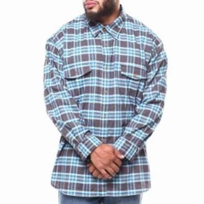 リー シャツ l/s 2 pocket cross dye poplin shirt (b&t) Brown