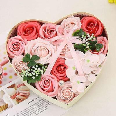 ソープフラワー ボックス 花束 バラ カーネーション 花 母の日 ギフト プレゼント フラワーギフト フラワー